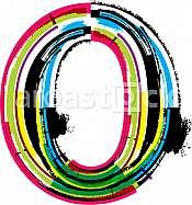 Font illustration, letter o