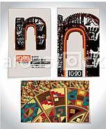 Ancient Business card design LETTER n