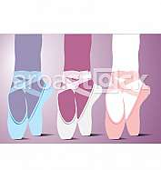 Ballet shoes illustration