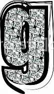 Diamond Font letter g