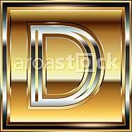 Ingot Font illustration Letter D