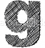 Hand draw font. LETTER g