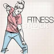 Illustration of woman exercising with a resistance rope