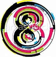 Colorful Grunge Font NUMBER 8