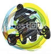 Sketch of Sportsman riding quad bike