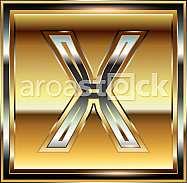 Ingot Font illustration Letter X