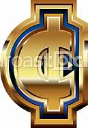 Golden Cent Symbol