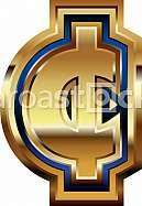 Golden Cent Symbol