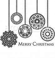 Ancient Christmas balls