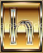 Ingot Font illustration Letter h