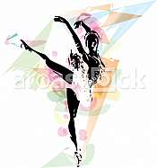 abstract sketch of beautiful ballerina