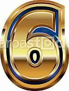 Golden Font Number 6