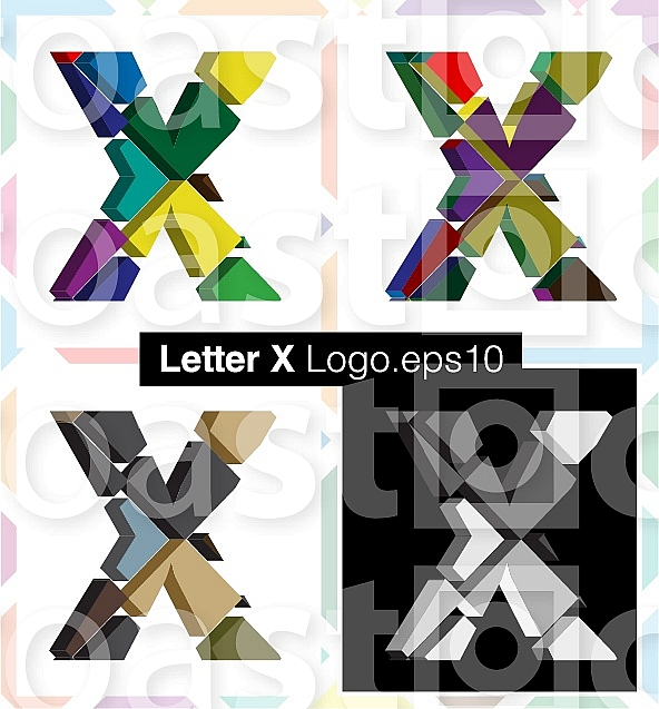 Colorful three-dimensional font letter Xhttp://www.aroastock.com/manager/mgr.media.preview.php?folde