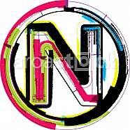 Colorful Grunge Font LETTER N