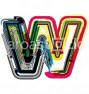 Colorful Grunge LETTER w