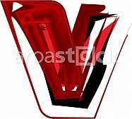 Artistic font letter v