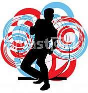 Dancing guy illustration