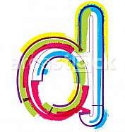Colorful Grunge LETTER d