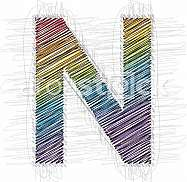 Hand draw font LETTER N