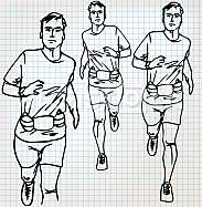 male runner sketch illustration
