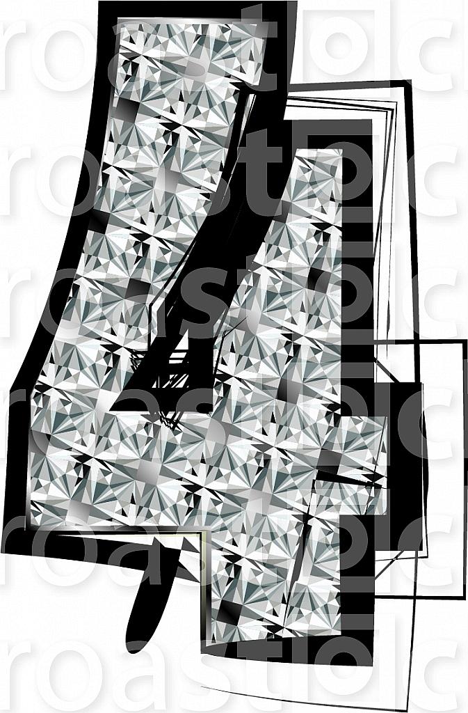 Diamond Font Number 4