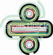Abstract colorful Division Sign