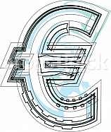 Font Symbol illustration. Euro