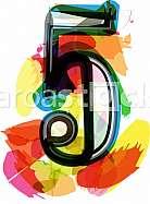 Artistic Font - Number 5