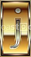 Ingot Font illustration Letter j
