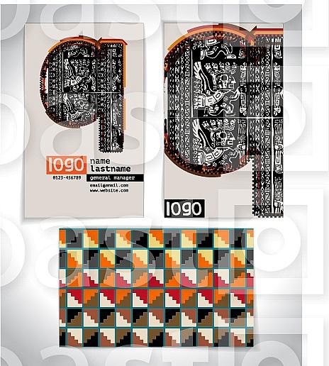 Ancient Business card design LETTER q
