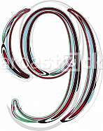 Font illustration NUMBER 9