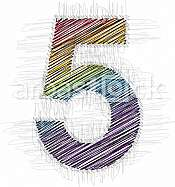 Hand drawn font NUMBER 5