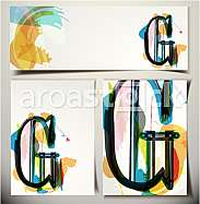 Artistic Greeting Card Font vector Illustration - Letter G