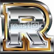 Fancy font Letter R