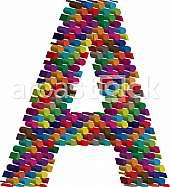 3d font letter A