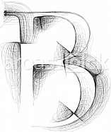 font Illustration Letter B