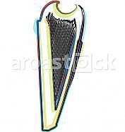 Abstract harp illustration