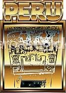 Ancient Peruvian gold ornament illustration
