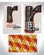 Ancient Business card design LETTER r