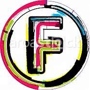 Colorful Grunge Font LETTER F