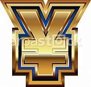 Golden Yen Symbol