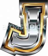Fancy font Letter J