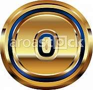 Golden Font Letter o