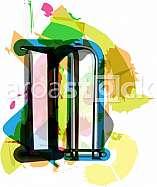 Artistic Font - Letter n