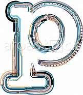 font Illustration Letter p