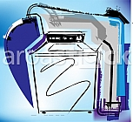 Washing machine. Vector illustration