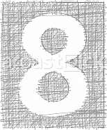 Freehand Typography Number 8