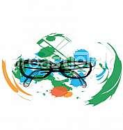 Eyeglasses illustration