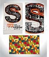 Ancient Business card design LETTER s