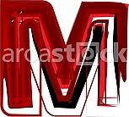 Artistic font letter M